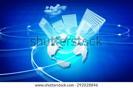 Global networking of business background