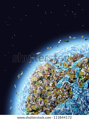 Global Pollution - stock photo