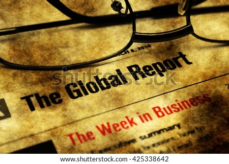 Global report week in business - stock photo
