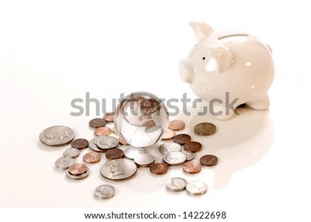 global saving - stock photo