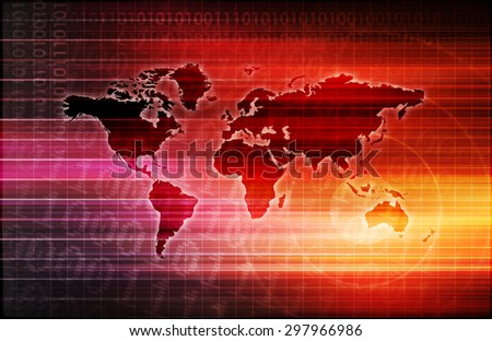 Global Science and Medical Abstract Background Art - stock photo