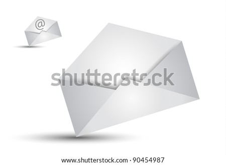 Global Shipping and Communication Email concept illustations - stock photo