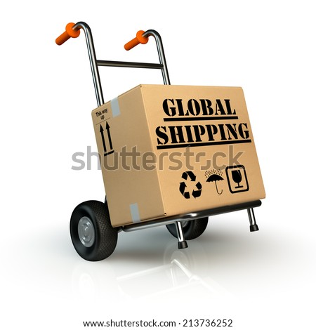 global shipping concept - stock photo