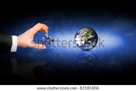 Global solution - stock photo