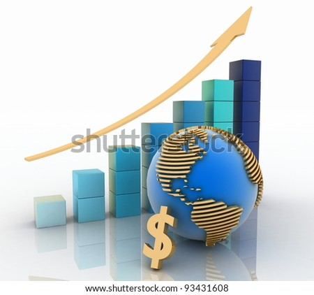 Global success concept. 3d render. - stock photo