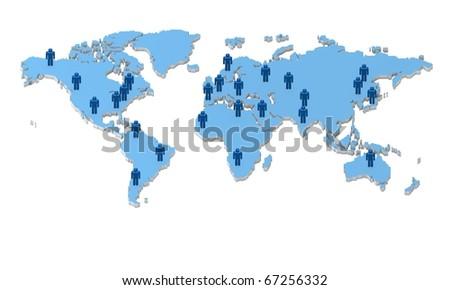 Global team - stock photo