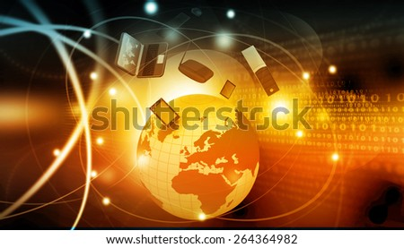 Global telecommunication concept 	 - stock photo