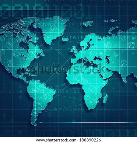 Global trade and communication backgrounds for your design - stock photo