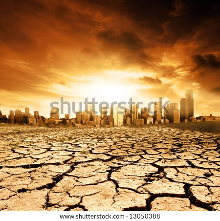 Global Warming Concept Image - stock photo