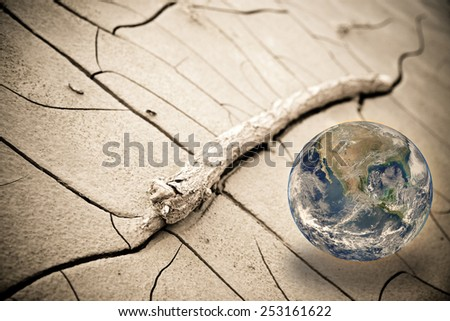 Global warming concept - Photo composition with image from NASA - stock photo