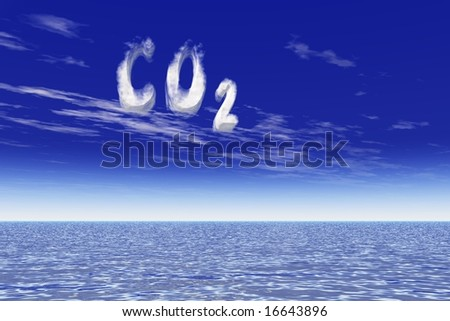 Global warming due to CO2 increase - stock photo