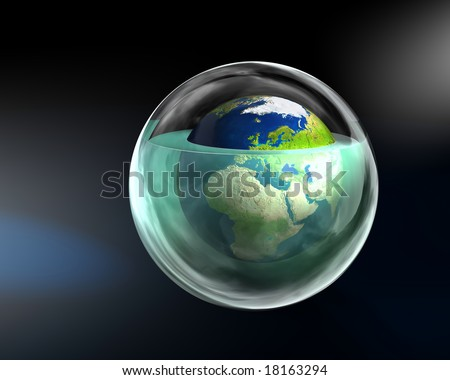 Global warming - Europe - stock photo