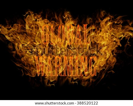Global warming fire abstracts background  - stock photo