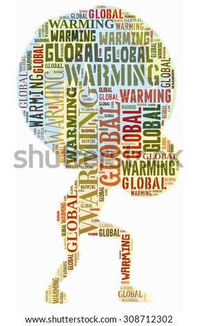 Global Warming in word collage. Save Earth Concept