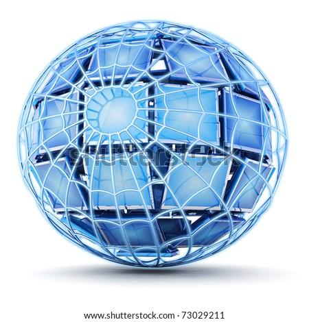 Global web - stock photo