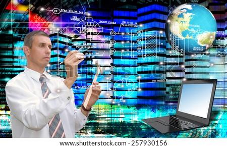 Globalization communications engineering technology.Generation - stock photo
