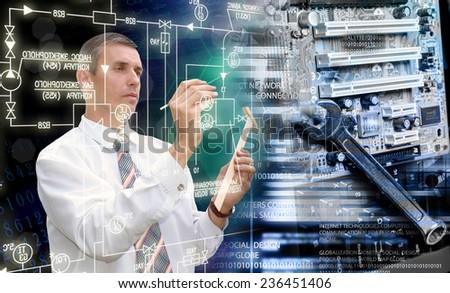 Globalization computing technology - stock photo