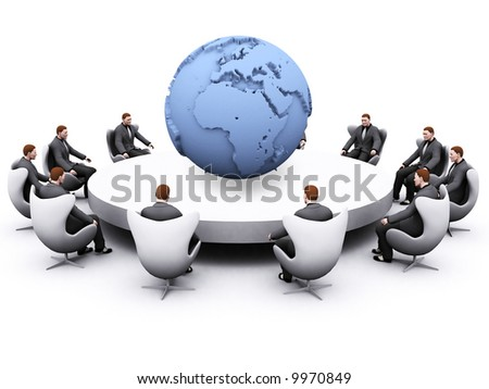 globalization concept with africa and europe showing on earth - stock photo
