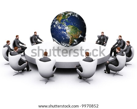 globalization concept with america showing on earth - stock photo