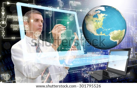 Globalization connection Internet technology.Generation - stock photo