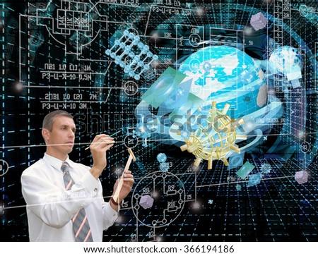 Globalization connection Internet technology.Generation telecommunications innovation technology - stock photo