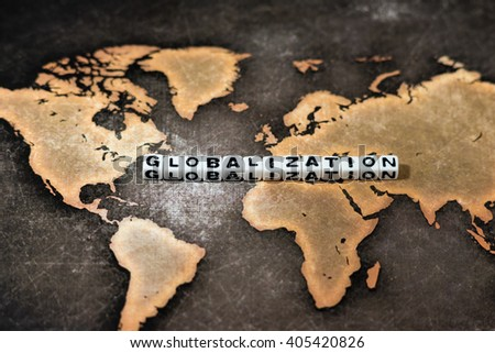 GLOBALIZATION on world map
