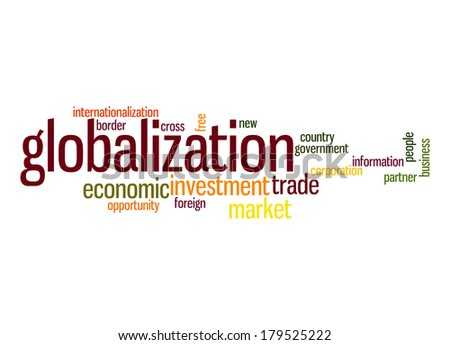 Globalization word cloud - stock photo