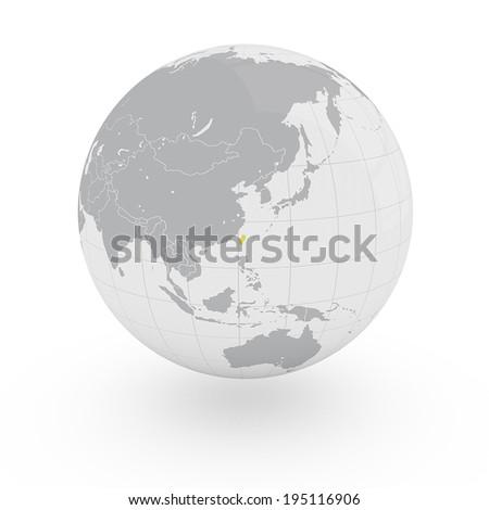 Globe Asia Taiwan - stock photo