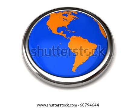 Globe button - stock photo