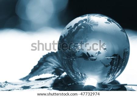 globe ecology - stock photo