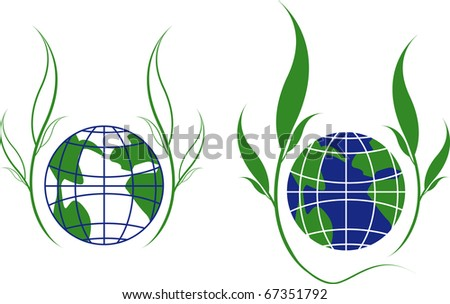 globe girdled with green branches