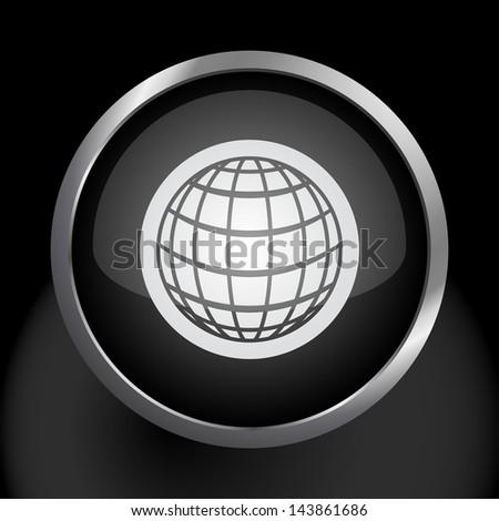 Globe Icon Symbol - Raster Version, Vector Also Available. - stock photo