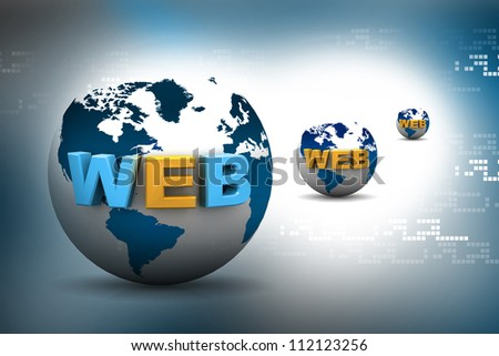 Globe internet concept on abstract background