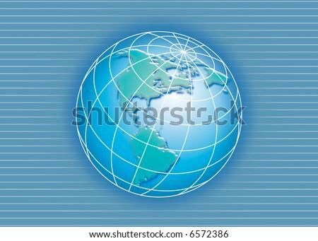 globe lines background - stock photo