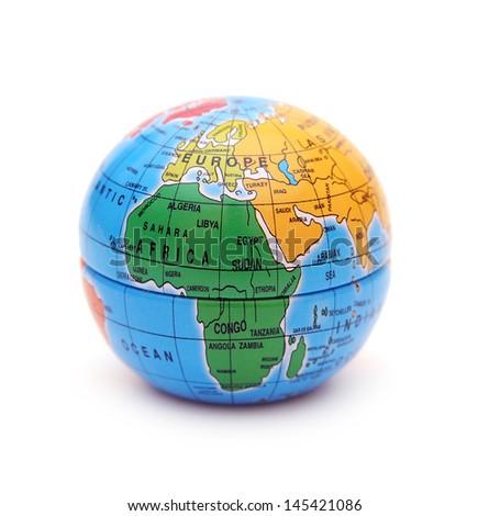 Globe on white - stock photo