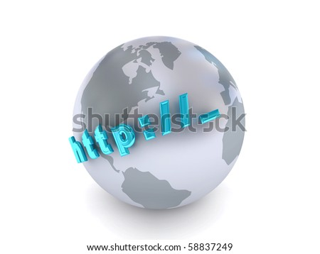 Globe over white background. 3d rendered image