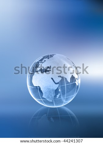 Globe showing Africa and Europe - stock photo