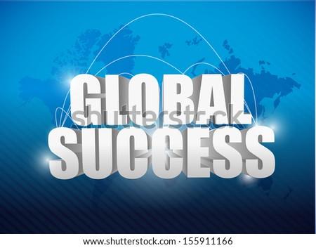 globe success world map concept illustration design background - stock photo