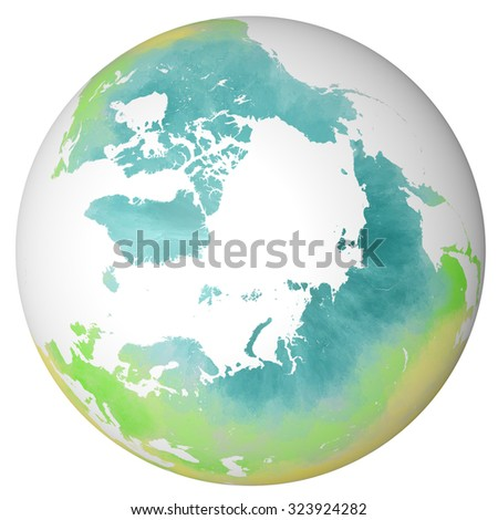 Globe view north pole handdrawn map stock illustration 323924282 globe view north pole hand drawn map gumiabroncs Images