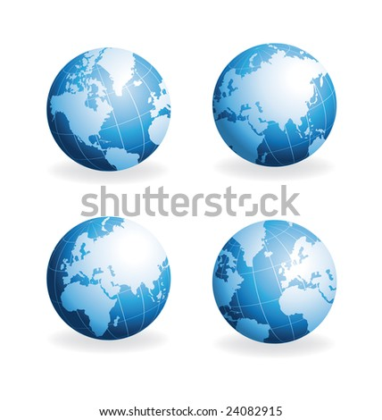 Globes different views