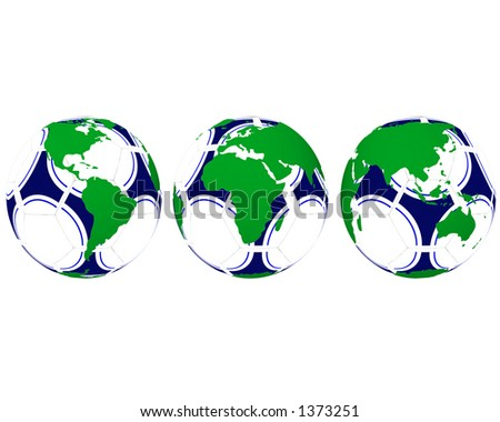 Globes on soccerball