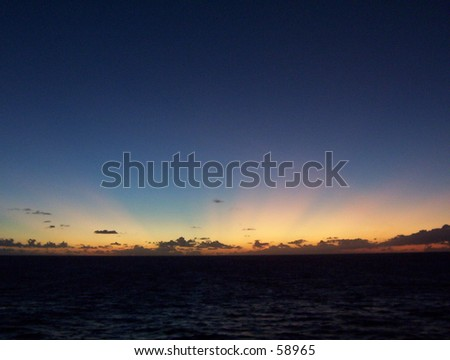 Glorious Sunset over the Caribbean Sea