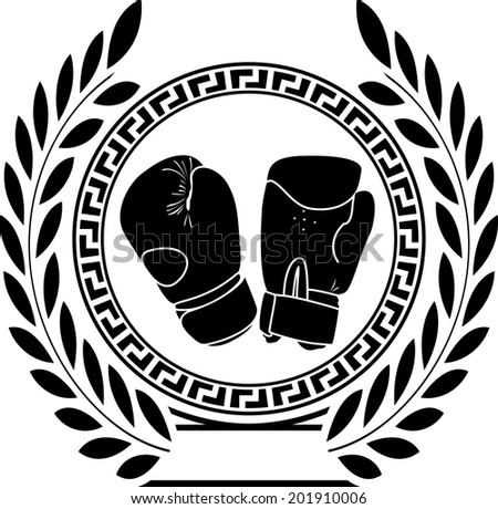 glory of boxing. first variant. raster version - stock photo