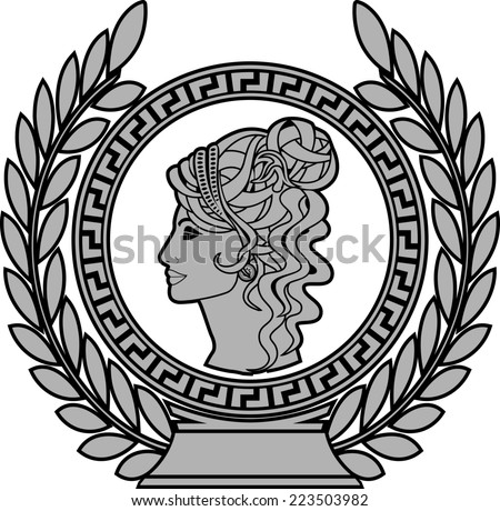 glory of roman woman 2. raster version - stock photo