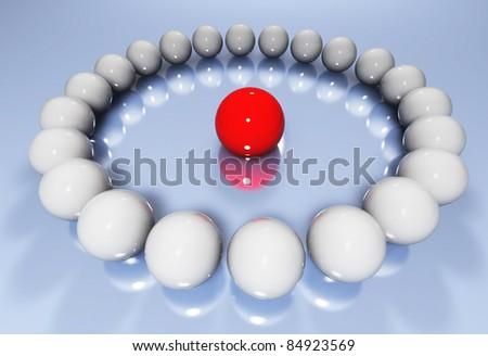 glossy balls - stock photo