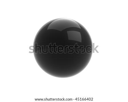 Glossy black pearl / sphere