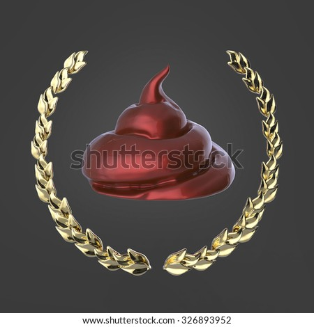 POOFness for Apr 10: ANOTHER ONE BITES THE DUST Stock-photo-glossy-brown-piece-of-shit-surrounded-with-golden-laurel-wreath-isolated-on-dark-background-d-badge-326893952