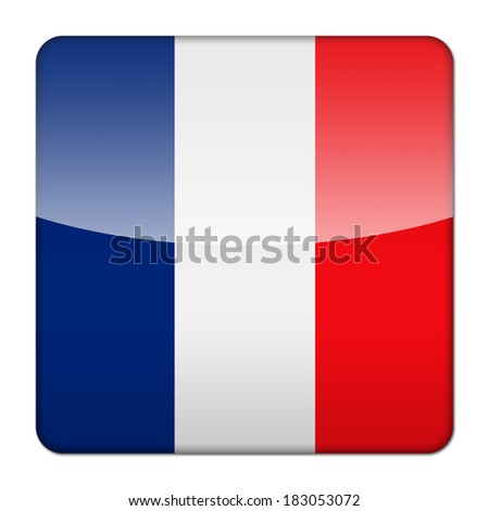 Glossy icon app flag of France French