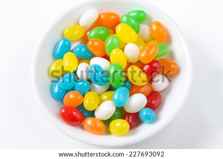 glossy jelly beans - stock photo