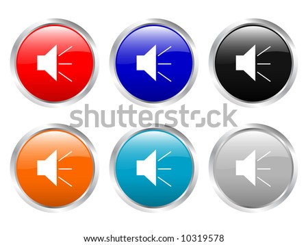 Glossy web buttons (clipping path) - stock photo